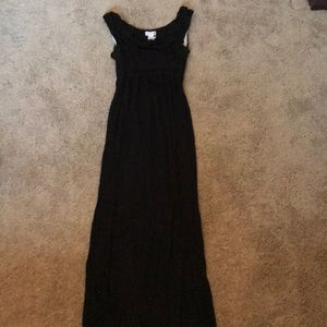Motherhood maternity black dress